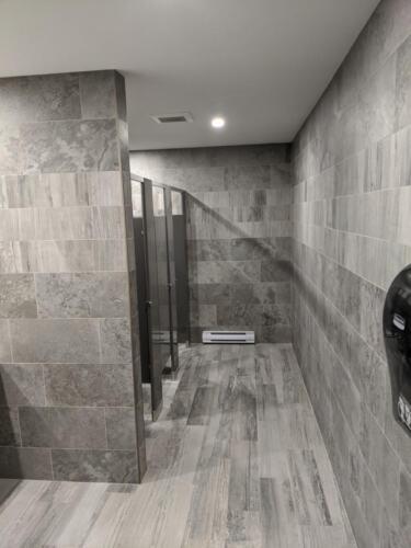 Ladies washroom finished
