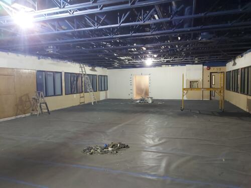 Main area gutted